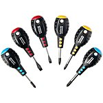 image of Halfords Advanced 6 Piece Stubby Screwdriver Set