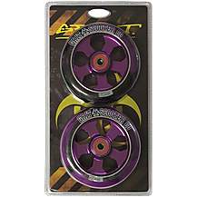 image of Grit Alloy Core Wheels (110mm) Black/Purple