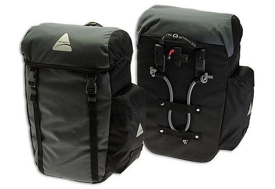 Axiom Seymour Deluxe 30 Pannier Bag - Grey/Black