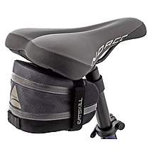 image of Axiom Catskill LX Exp Saddle Seat Bag - Grey/Black