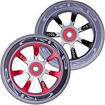 image of Crisp Hollowtech Wheels 100mm, Black/Red