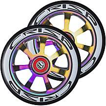 image of Crisp Hollowtech Wheels 110mm, Black/Coloured Chrome