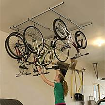 image of Saris Cycle Glide Ceiling Mount Storage Rack