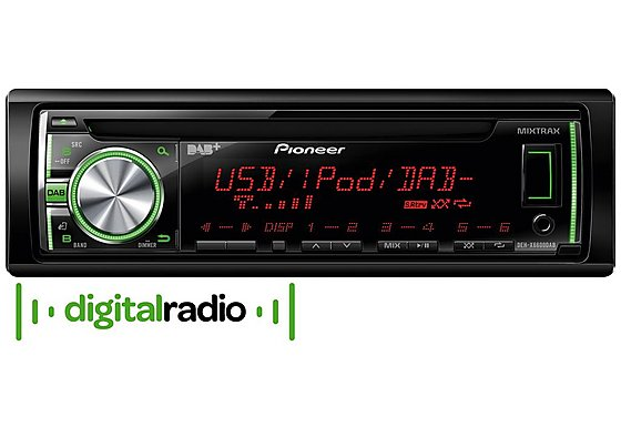 Pioneer DEH-X6600DAB CD RDS Tuner with DAB+ Digital Radio