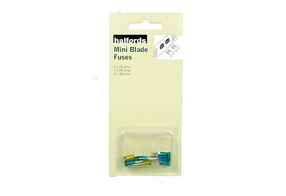 Halfords Mini Blade Fuses 6 Pack
