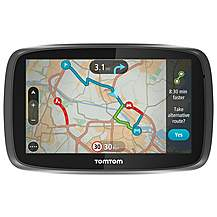 "image of Ex Display TomTom GO 5000 with MyDrive & Lifetime TomTom Traffic & Maps 5"" Sat Nav - UK, ROI & Europe"