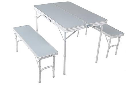 image of Urban Escape Folding table and Bench Set