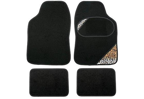 Leopard Print Car Mats - Universal Fit