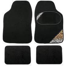 image of Leopard Print Car Mats - Universal Fit