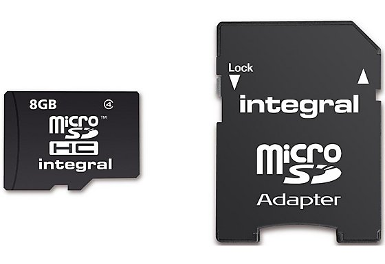 Integral Micro SD 8GB Memory Card & SD Adapter
