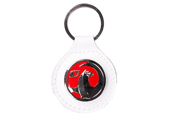Richbrook Vauxhall White Leather Keyring