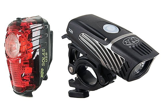 NiteRider Lumina Micro 220 + Solas Combo Bike Lights