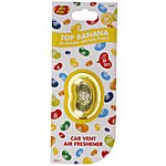 image of Jelly Belly Membrane Car Vent Air Freshener Top Banana