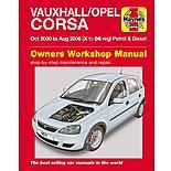 Haynes Vauxhall/Opel Corsa Petrol & Diesel Manual (Oct 00 - Aug 06) X to 06