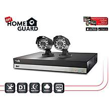 image of Homeguard 4 Channel 2 Camera 500GB DIY CCTV Kit