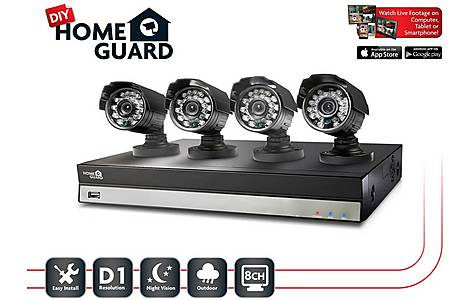 image of Homeguard 8 Channel 4 Camera 1TB DIY CCTV Kit