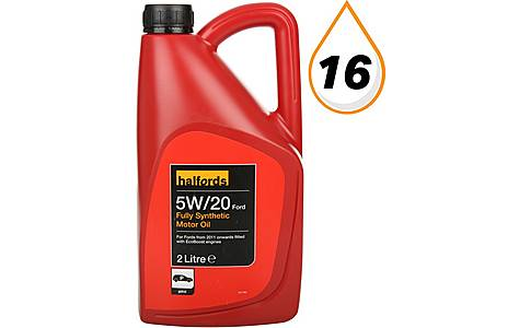 image of Halfords 5W20 Fully Synthetic Oil 2L