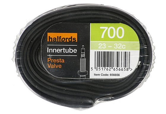Halfords Presta Bike Inner Tube - 700c x 23-32c