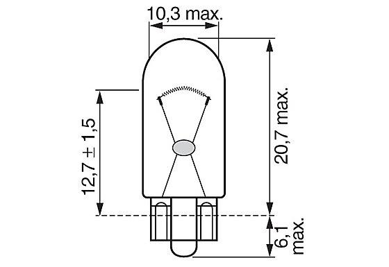 Bosch (501) Car Bulbs x 2