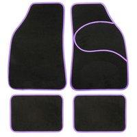 Halfords Carpet Car Mats Purple Trim