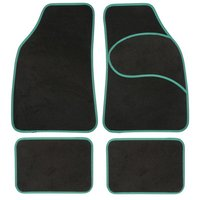 Halfords Carpet Car Mats Green Trim