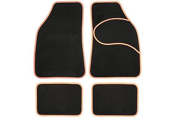 Halfords Carpet Car Mats Orange Trim