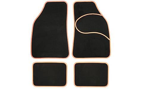 image of Halfords Carpet Car Mats Orange Trim