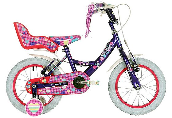 Raleigh Krush Purple/Pink Girls Bike 14