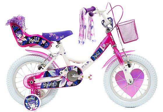 Raleigh Molly White Girls Bike 14