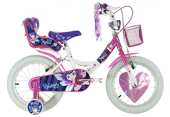 Raleigh Molly White Girls Bike 16