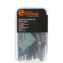 image of Halfords Essentials Puncture Repair Kit & Tools
