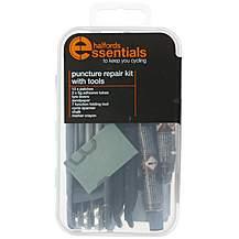 image of Halfords Essentials Puncture Repair Kit & Tools