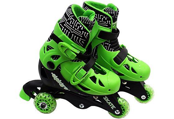 Elektra Tri Line Skates Green & Black