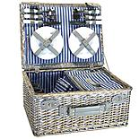 Halfords 4 Person Picnic Basket with Cooler Compartment