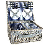 image of Halfords 4 Person Picnic Basket with Cooler Compartment