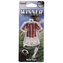 image of Winner Football Air Freshener Red/White Striped Kit