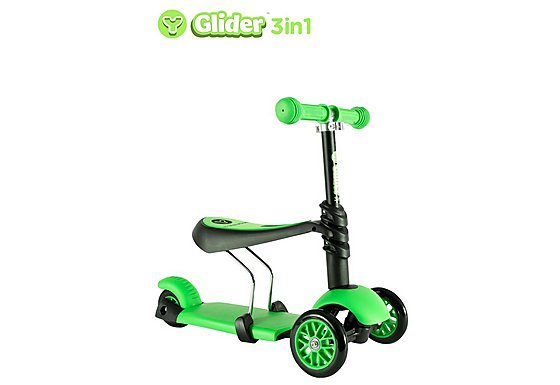 Y Glider 3 in 1 Scooter Green