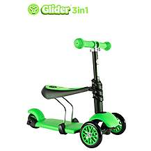 image of Y Glider 3 in 1 Scooter Green