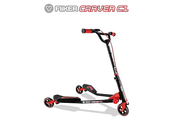 Y Fliker C1 Scooter Matt Black/Red