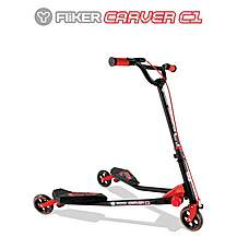 image of Y Fliker C1 Scooter Matt Black/Red