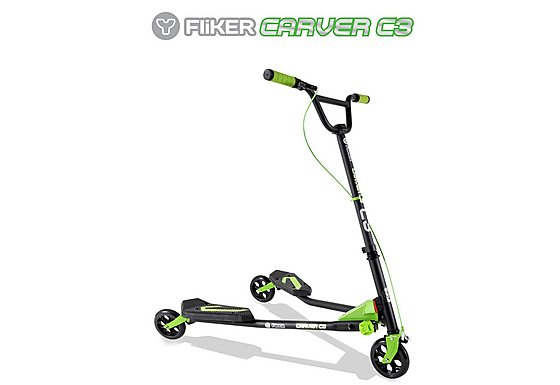 Y Fliker C3 Scooter Matt Black/Green