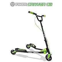 image of Y Fliker C3 Scooter Matt Black/Green