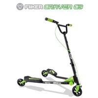 Y Fliker C3 Scooter - Matt Black & Green