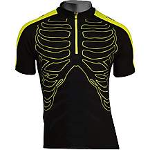 image of Northwave Skeleton Short Sleeve Jersey Black/Yellow