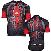image of Northwave Heart Short Sleeve Jersey Black/Red