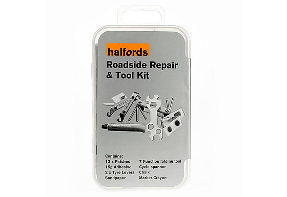 Halfords Bike Tyre Roadside Repair & Tool Kit