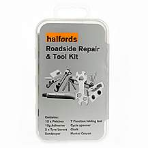 image of Halfords Bike Tyre Roadside Repair & Tool Kit