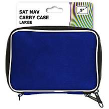 "image of Halfords 5"" Blue Sat Nav Carry Case"