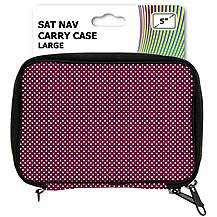 "image of Halfords 5"" Purple Sat Nav Carry Case"