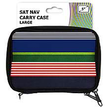 "image of Halfords 5"" Striped Sat Nav Carry Case"